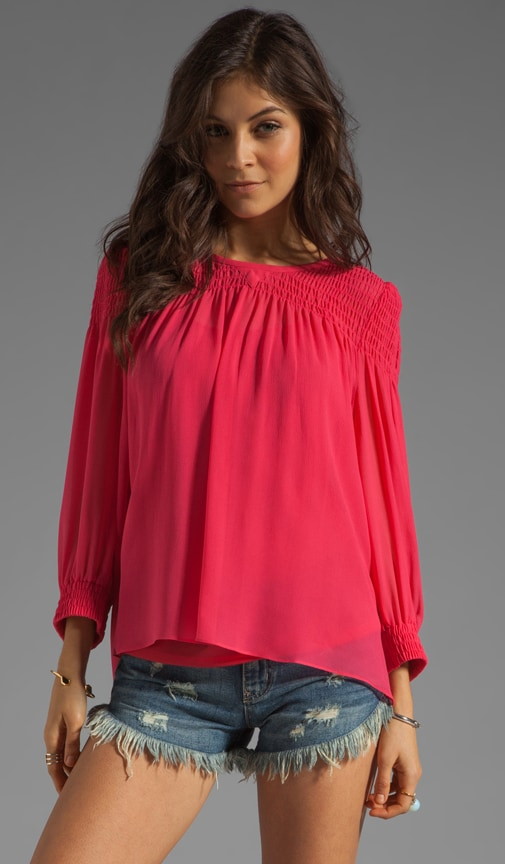 Crystal Textured Silk Top