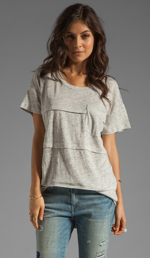 Slubbed Linen Pocket Tee
