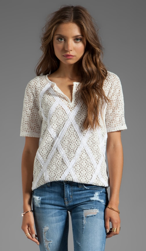 Collage Lace Short Sleeve Top