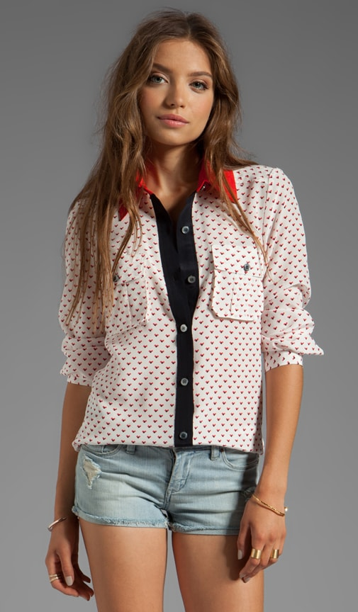 Vivie Print Button Down