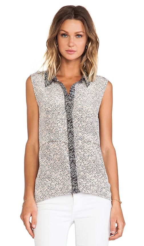 Karoo Print Button Down Tank