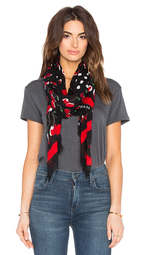 Marc by Marc Jacobs Double Cherry Scarf in Black Multi