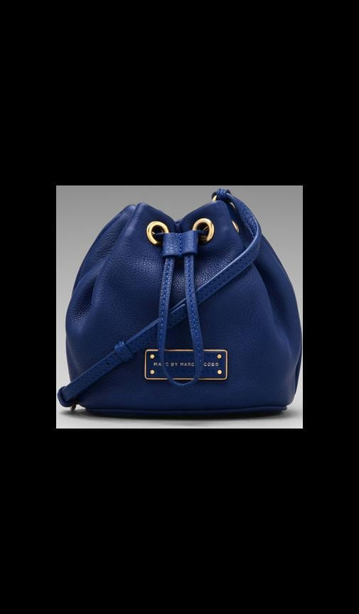 Too Hot to Handle Mini Drawstring Bauhaus Blue