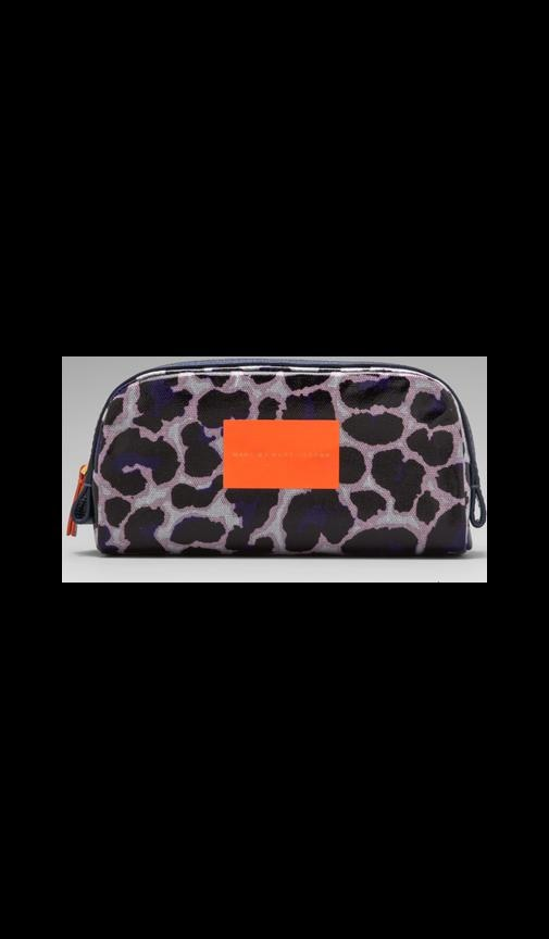 Coated Canvas Landscape Cosmetic Pouch