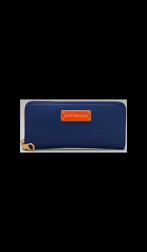 Too Hot to Handle Colorblocked Slim Zip Around Wallet