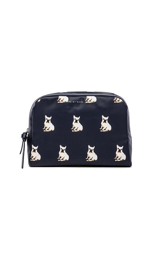 Pets Coated Canvas Large Cosmetic Pouch