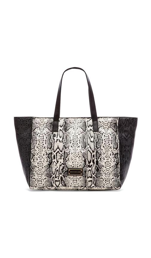 Here's the T Snake Colorblocked Tote