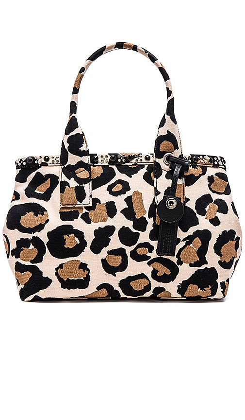 Marc by Marc Jacobs Leopard Embellished Canvas Tote in Sandbox Multi