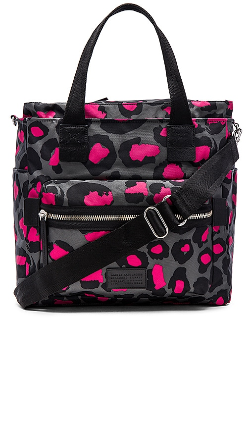 Marc by Marc Jacobs Domo Arigato Printed Leopard Elizababy Tote in Raspberry Sorbet Multi