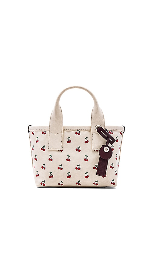 Marc by Marc Jacobs Embroidered Fruit Canvas Small Tote in Off White Cherry Print