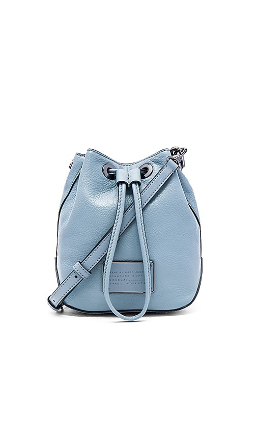 Marc by Marc Jacobs Too Hot To Handle Drawstring Bucket Bag in Ice Blue