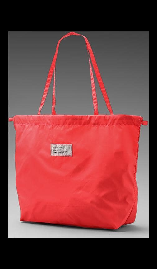 Spot Solid Drawstring Tote