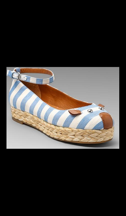 Striped Canvas Mouse Espadrille