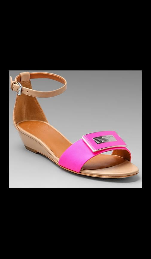 Neon Logo Mini Wedge Sandal