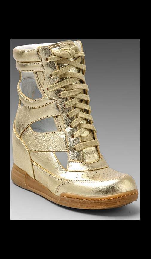 Metallic Cut Out Wedge Sneaker