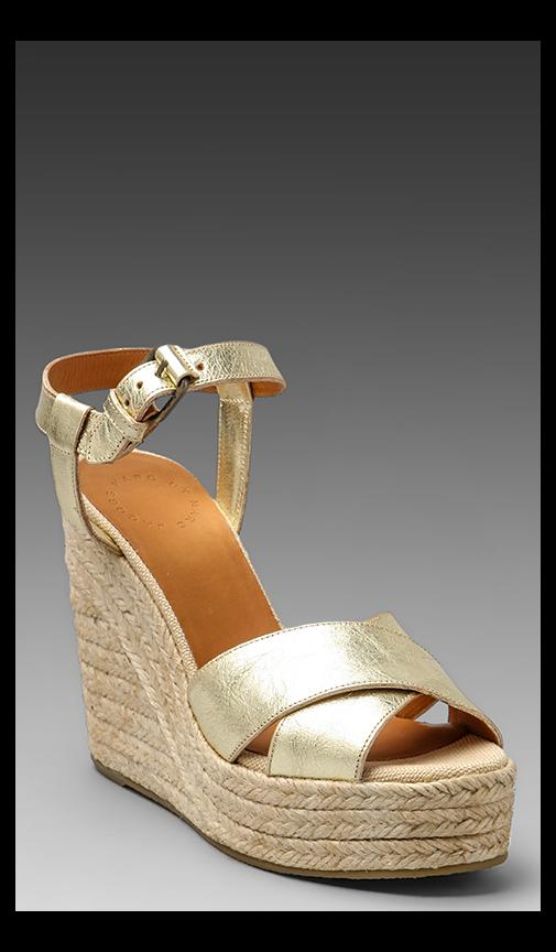 Metallic Espadrille Wedge Sandal