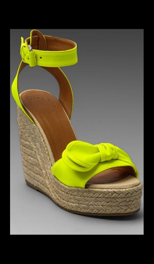 Pretty Knot Wedge Espadrille