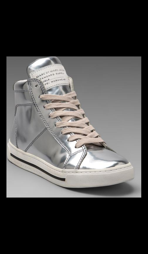 Mirror Reflective High Top Sneaker