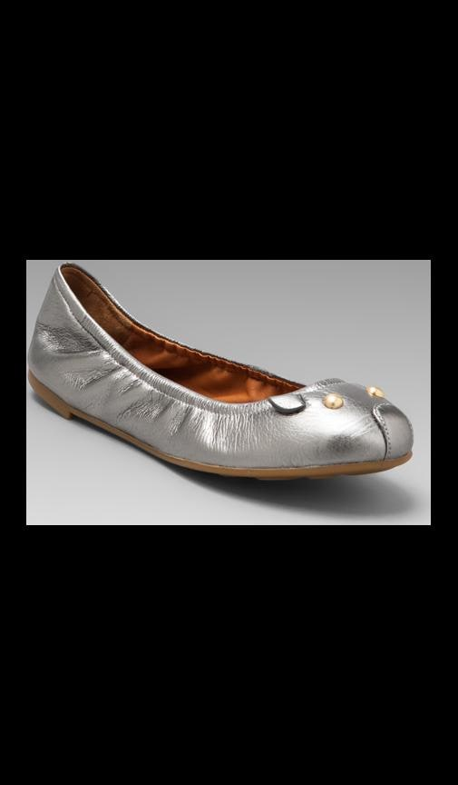 Mouse Metallic Soft Ballerina Flat