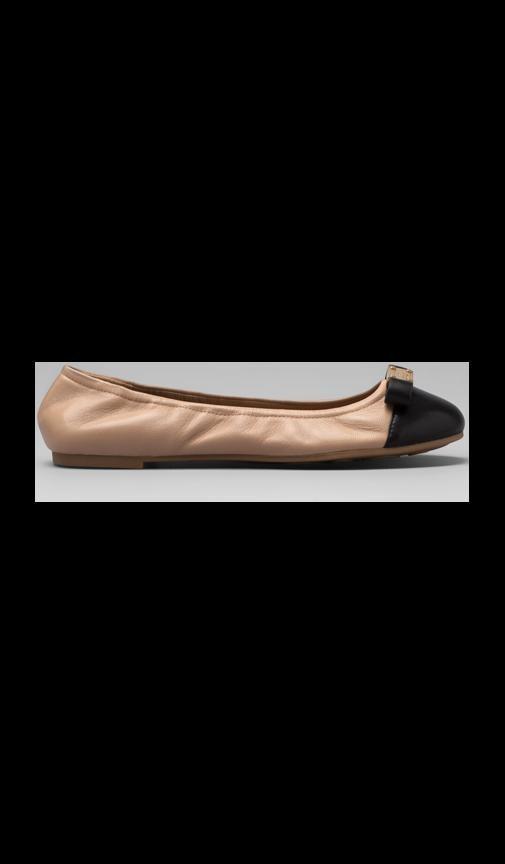 Core Nappa Lamb Tuxedo Logo Plaque Soft Ballerina Flat