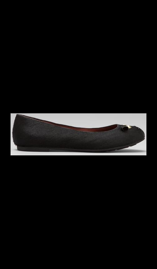 Mouse 10mm Ballerina Flat with Calf Hair