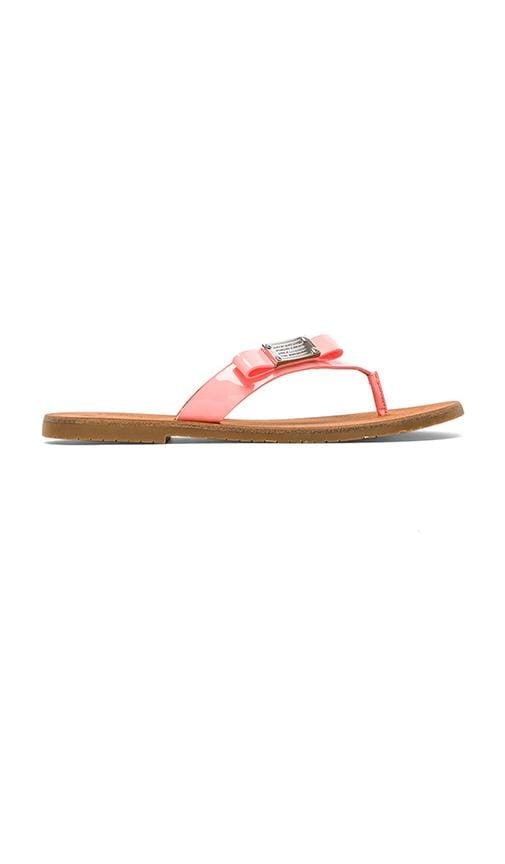 Tuxedo Logo Plaque Leather Flip Flop