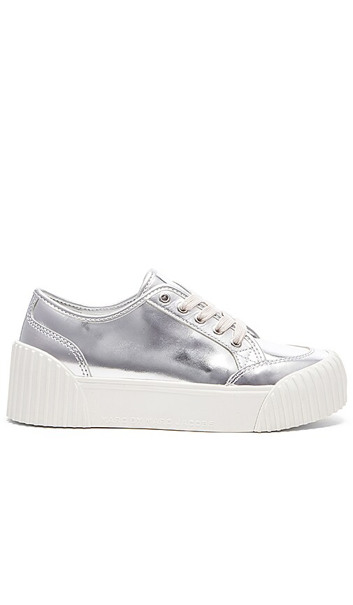 Marc by Marc Jacobs Riley Sneaker in Silver