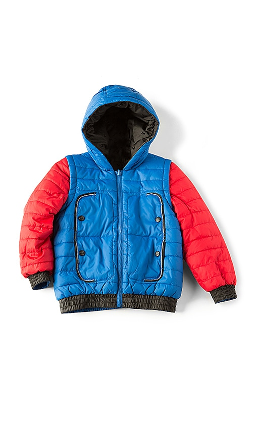 Little Marc Jacobs Puffer Jacket in Blue
