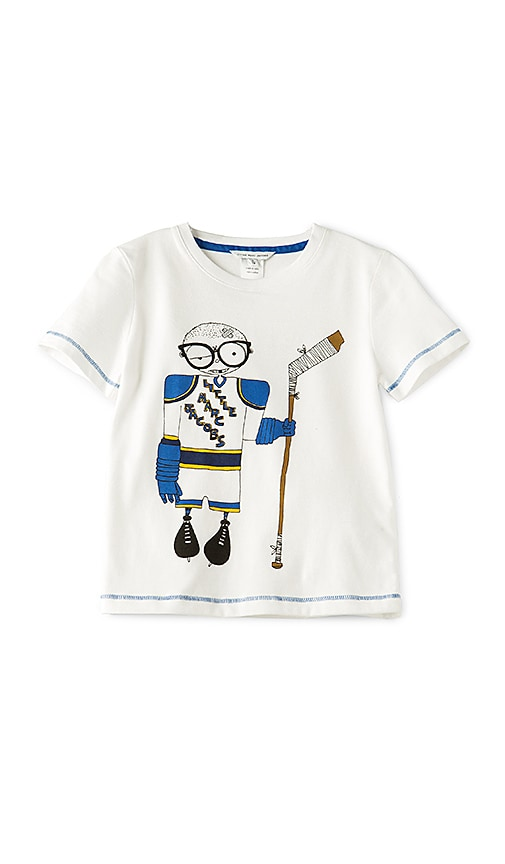 Little Marc Jacobs Hockey Player Tee in White
