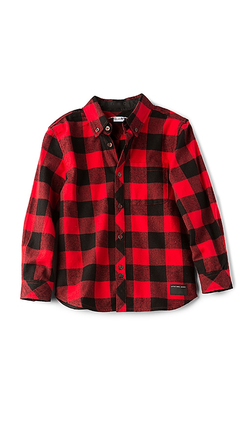 Little Marc Jacobs Buffalo Check Shirt in Red