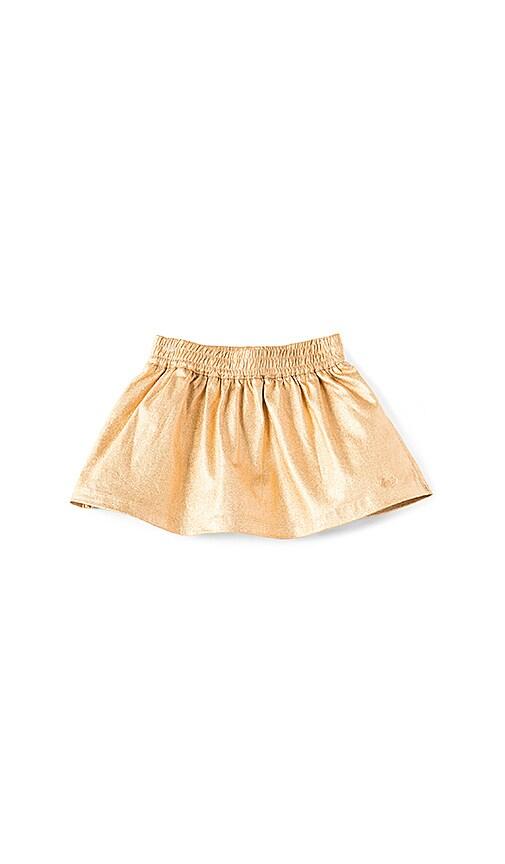 Little Marc Jacobs Fancy Twill Skirt in Metallic Gold