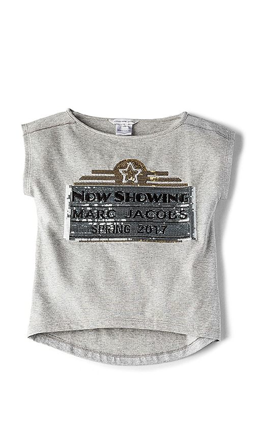 Little Marc Jacobs Graphic Tee in Gray