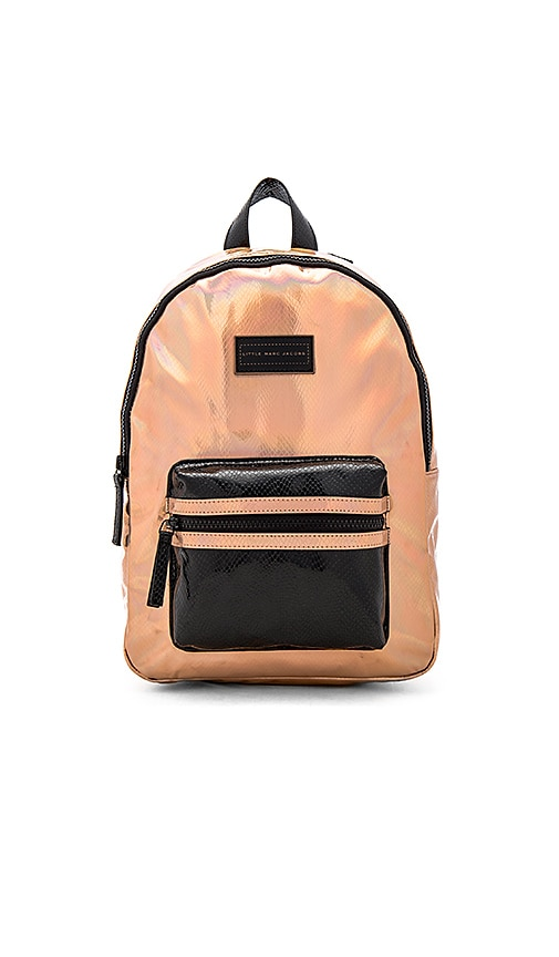 Little Marc Jacobs Leather Effect Backpack in Metallic Copper