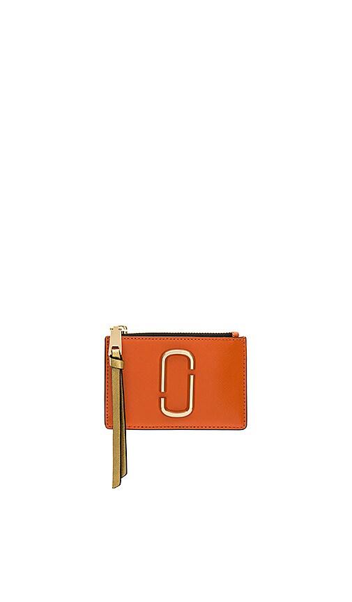 Marc Jacobs Top Zip Multi Wallet in Orange