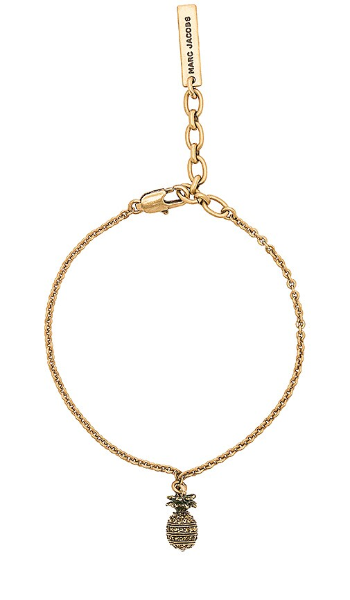 Marc Jacobs Pineapple Chain Bracelet in Metallic Gold