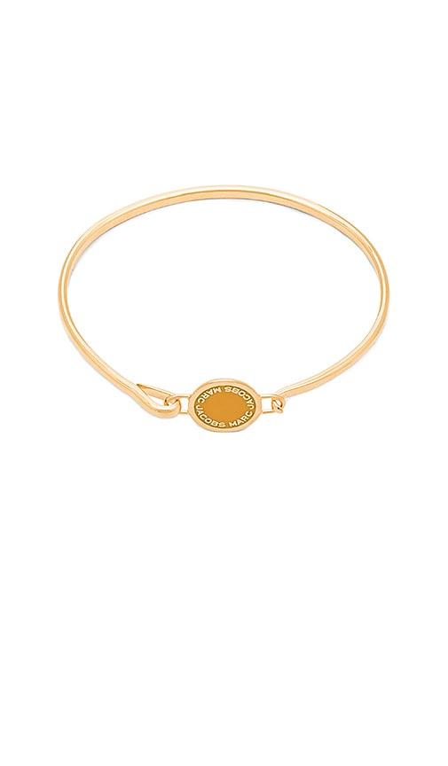 Enamel Logo Disc Hinge Bracelet