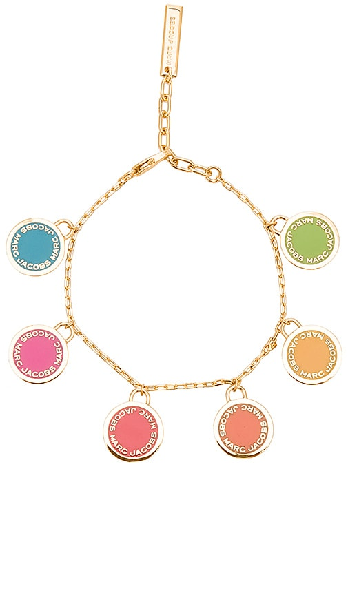 Marc Jacobs Logo Disc Statement Bracelet in Metallic Gold