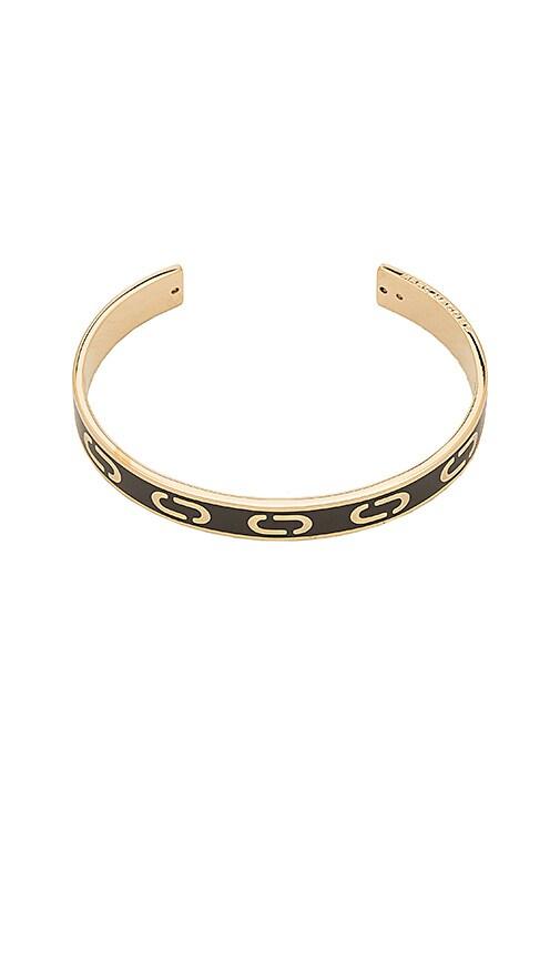 Marc Jacobs Icon Enamel Cuff in Metallic Gold