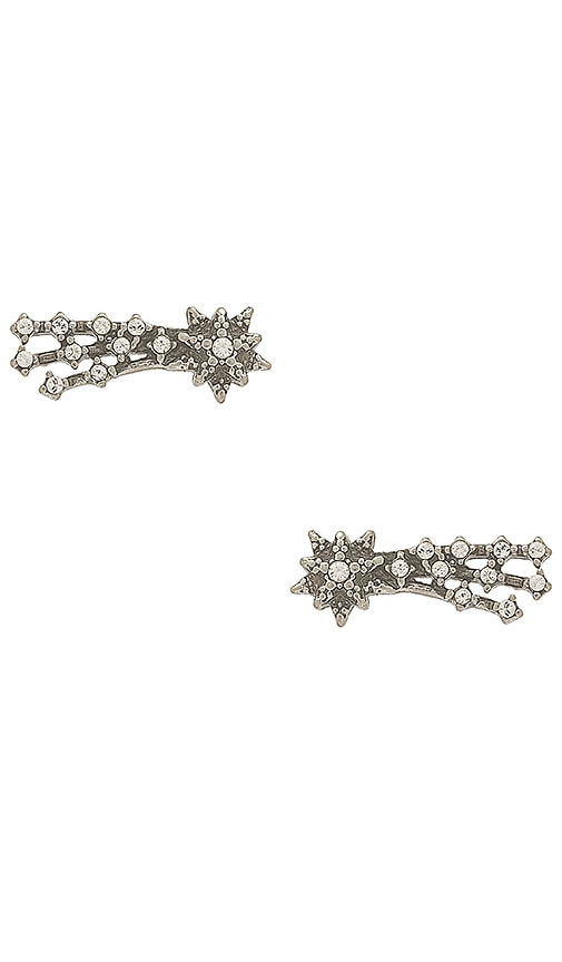 Marc Jacobs Crystal Shooting Star Studs in Metallic Silver