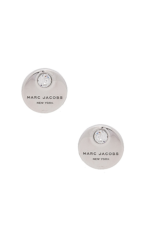 Marc Jacobs MJ Coin Studs in Metallic Silver