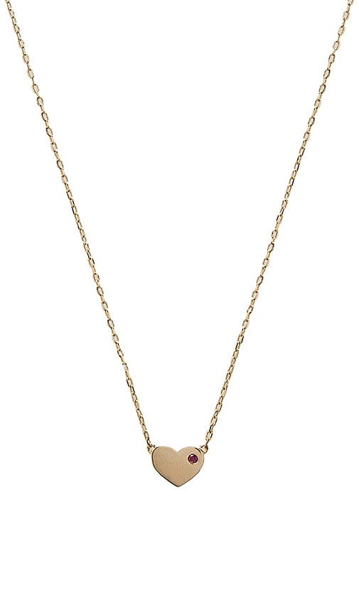Marc Jacobs Heart Pendant Necklace in Metallic Gold