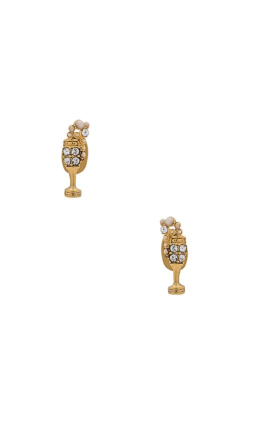 Marc Jacobs Champagne Flute Studs in Metallic Gold