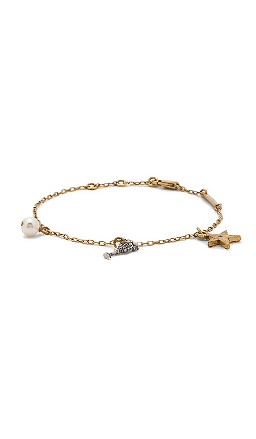 Marc Jacobs Champagne Flute Chain Bracelet in Metallic Gold