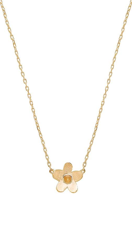 Marc Jacobs Daisy Pendant in Metallic Gold