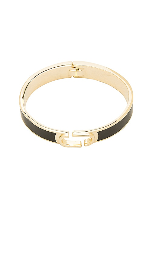 Marc Jacobs Hinge Cuff Bracelet in Metallic Gold