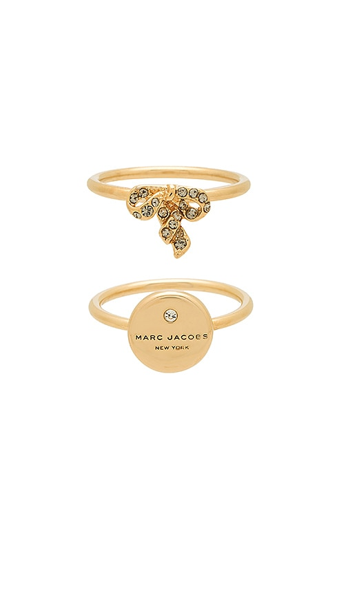 Marc Jacobs Charm Ring in Metallic Gold
