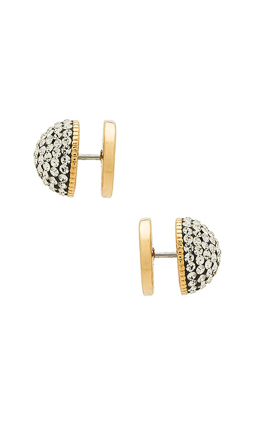 Marc Jacobs Crystal Studs in Metallic Gold