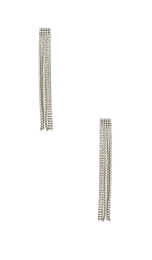 Marc Jacobs River Earrings in Metallic Silver