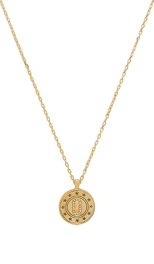 Marc Jacobs Double Sided Pendant in Metallic Gold
