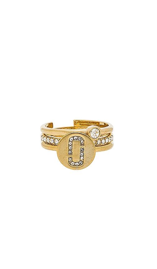 Marc Jacobs Pave Ring Set in Metallic Gold